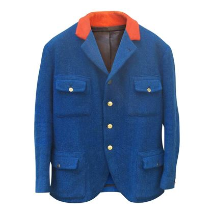 Vintage Mens Mink Hunting wool blue Jacket