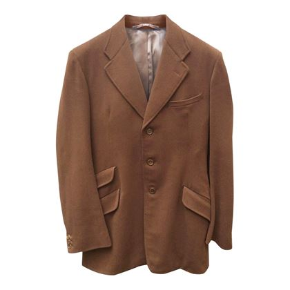 Vintage tweed wool hunting brown jacket