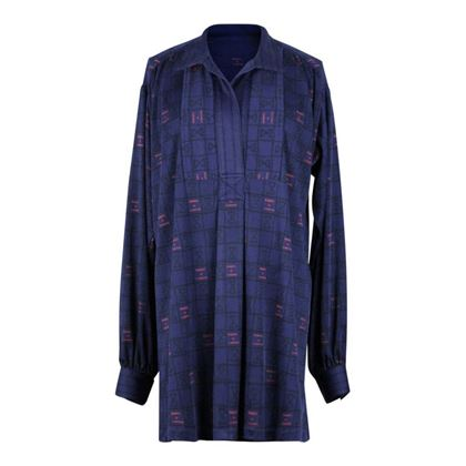 Roberta di Camerino 1970s tunic blue vintage dress