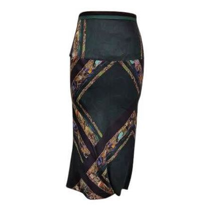 Dries Van Noten patterned silk vintage skirt