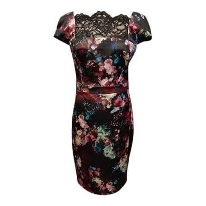 Just Cavalli floral pattern & lace vintage dress