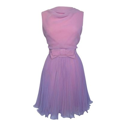Vintage 1960s Cowl Neck Cocktail Purple Dress