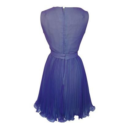 Vintage 1960s Cowlick Cocktail Purple Dress