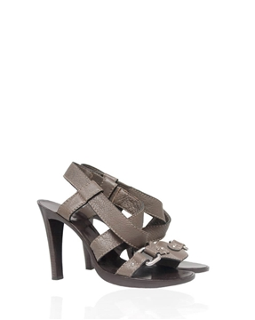Chloe Taupe Leather Vintage Sandals