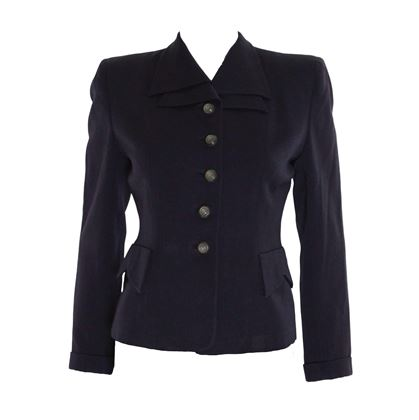 Vintage 1940s dark navy jacket
