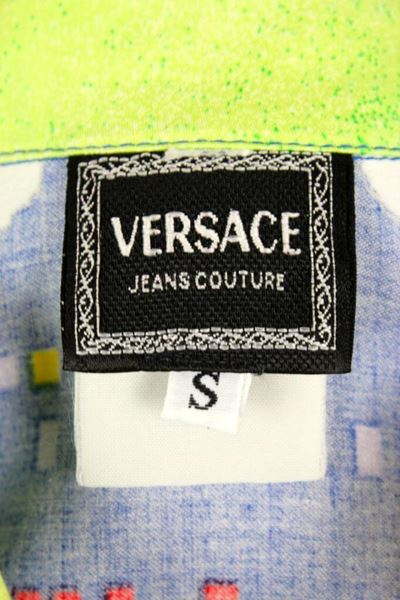 Gianni Versace 1995 denim Patterned vintage Jacket