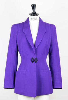Thierry Mugler 1980s hourglass Purple vintage Jacket