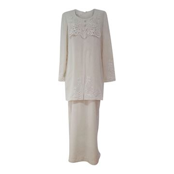 Vintage 1970's Edwardian style Wedding Dress