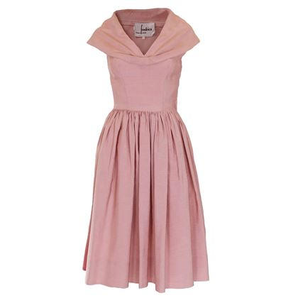 Vintage 1950s Prom Style Dusty Pink Dress