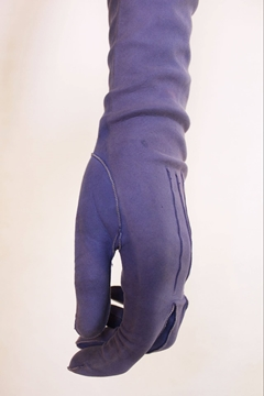 Vintage 1940s Suede Long lilac Gloves