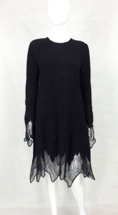 Chanel Runway Fall 09 Mohair black vintage Dress