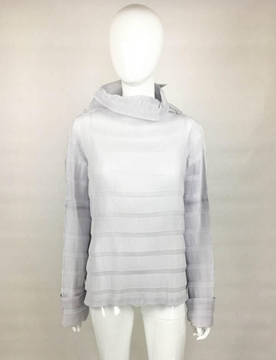 Issey Miyake Pleated Roll Neck vintage Top