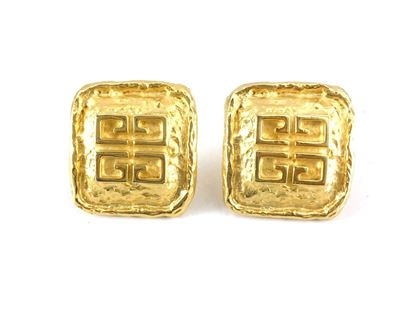 Givenchy 1980s Gold-Plated Logo vintage Earrings