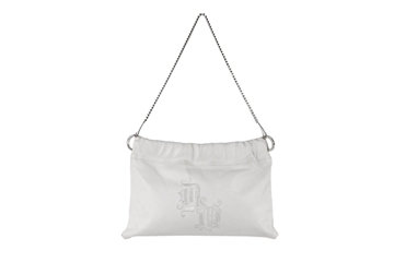 Gianni Versace Leather White Vintage Shoulder Bag