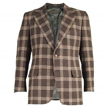 Lanvin 1970s Check Camel Hair brown vintage Blazer