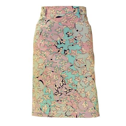 Emilio Pucci 1970s Printed Cotton vintage Skirt
