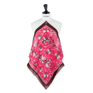 Picture of Emilio Pucci 1970s light wool patterned pink vintage scarf