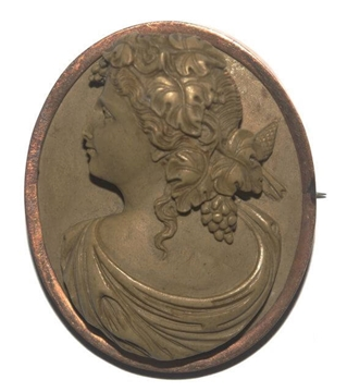 Picture of Antique Victorian High Relief Lava Cameo vintage Brooch