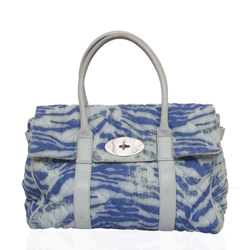 Mulberry Bayswater Blue Trippy Tiger Denim Vintage Bag