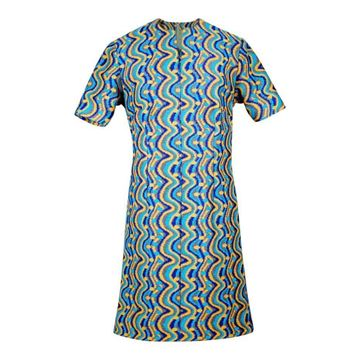 Vintage Multicoloured Patterned A line Dress