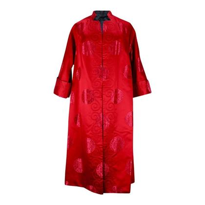 Vintage 1970s Reversible Asian Style red Evening Coat