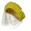 Picture of Vintage 1940's veiled tilt yellow hat