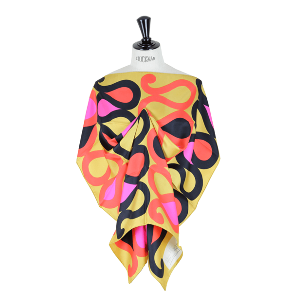 Picture of Maggy Rouff 1960s silk gold vintage scarf