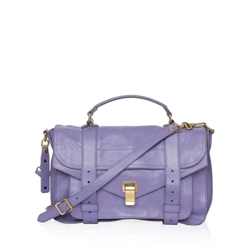 Proenza Schouler PS1 medium leather purple vintage satchel