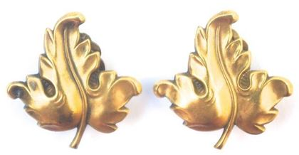 Joseff of Hollywood 1940s Leaf Vintage Earrings