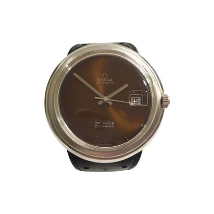 Omega De Ville stainless steel brown vintage mens watch