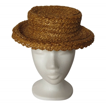 Vintage 1930s French Straw boater style hat