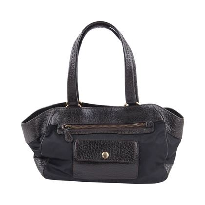 Prada Canvas & Leather black & brown vintage Tote bag