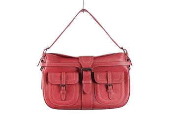 Valentino Garavani Leather Red Vintage Shoulder Bag