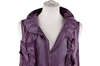 Marni  Silky Sleeveless Ruffle Trim purple vintage dress