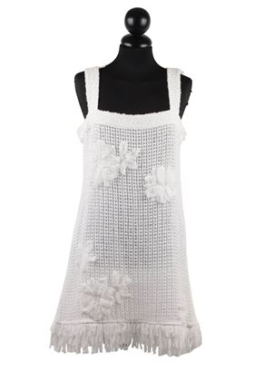 Chanel Cotton Sleeveless white vintage Shift Dress