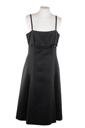 max-mara-italian-black-cotton-a-line-dress-knee-lenght-sz-46-it-12-usa-ay-4