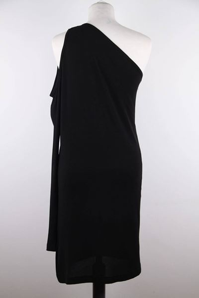 Dolce & Gabbana Black Jersey One Shoulder Vintage Dress