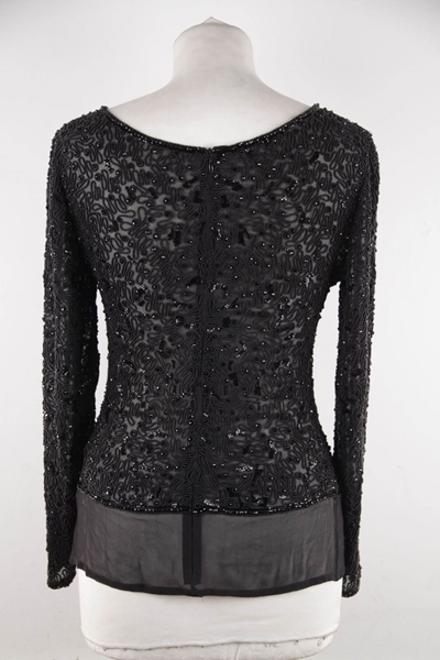 valentino-couture-vintage-black-chiffon-beaded-blouse-top-long-sleeve-gt-4
