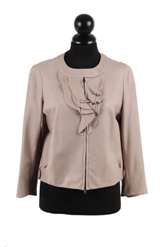 Miu Miu Zip Front Leather grey vintage Jacket