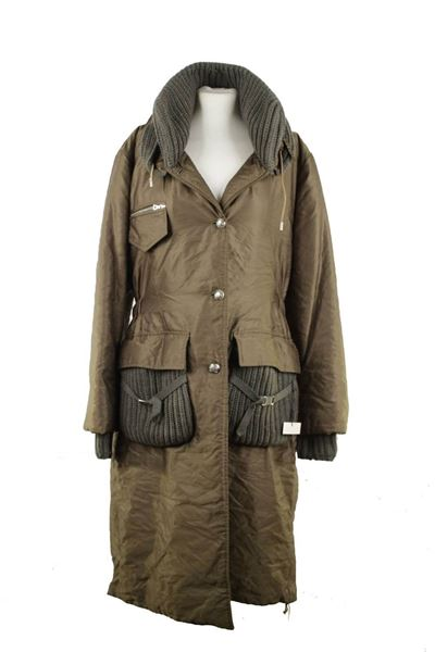 Ermanno Scervino Military Green Parka Jacket
