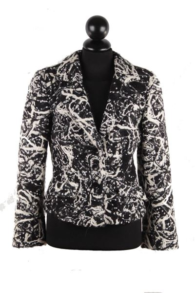 Battistoni Wool Textured monochrome vintage Blazer
