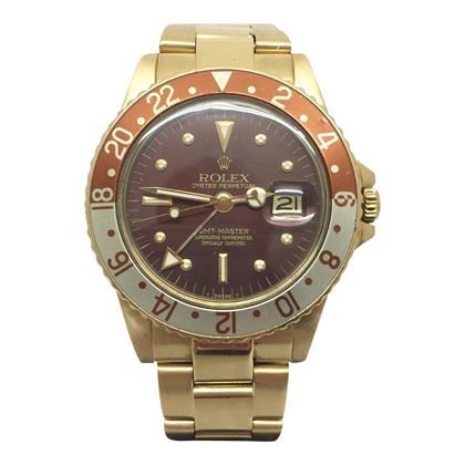 "Rolex GMT Master date just ""Root Beer"" 1675/8,"