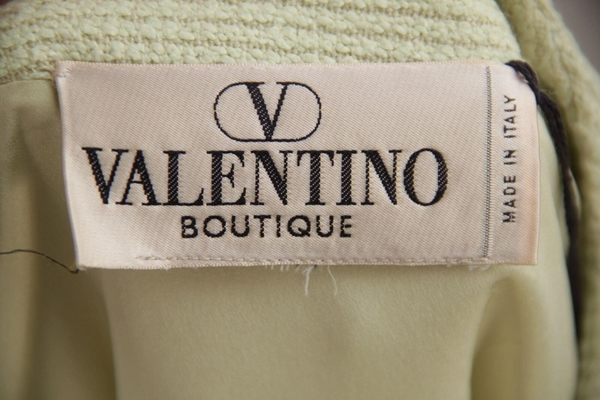 Valentino Boutique Light Green Wool & Viscose Vintage Jacket