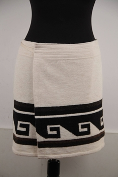 Isabel Marant Sienna Knitted Wrap ivory vintage Mini Skirt