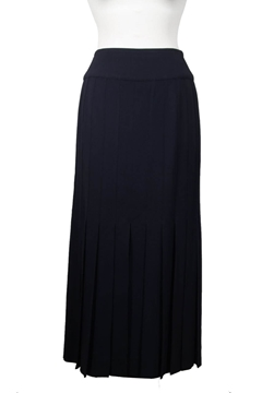 Chanel PLeated Maxi Navy Vintage Skirt