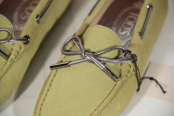 Tod's Suede Heaven Laccetto Loafers Moccasins Green Vintage Shoes