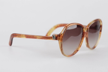 Yves Saint Laurent Oversize Orange Vintage Womens Sunglasses