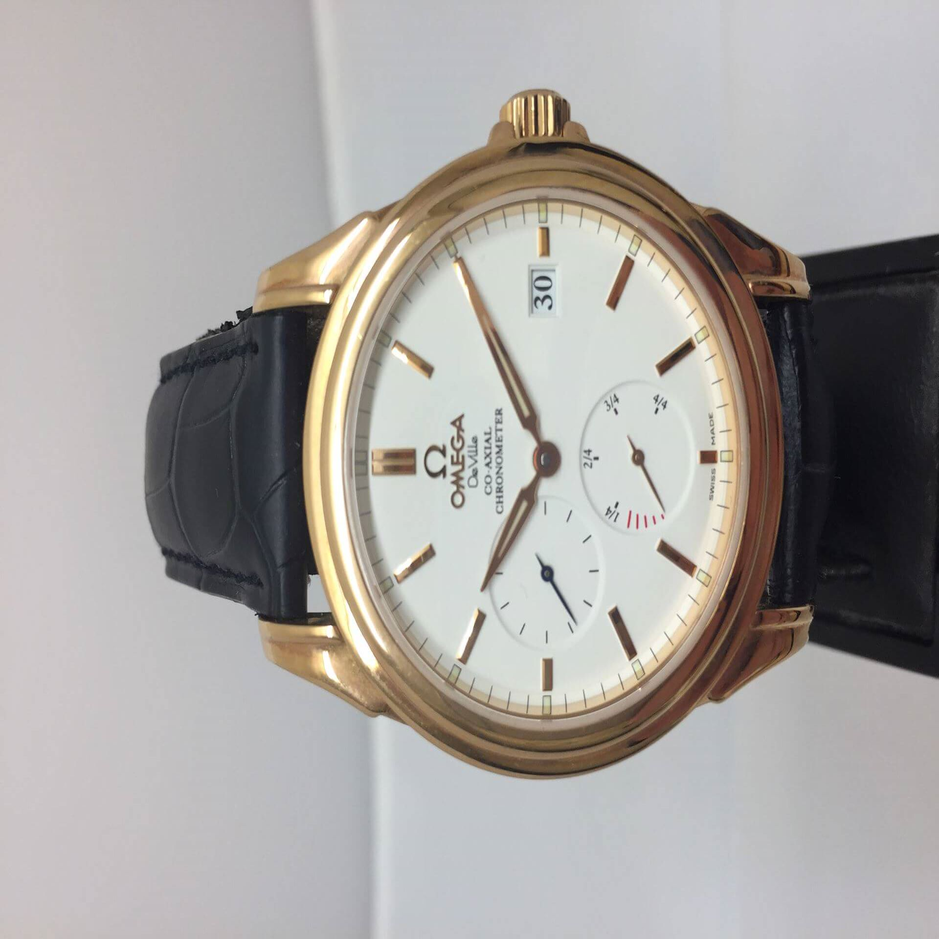 Omega De Ville Co-Axial Power Reserve 4652.20.32, date and time vintage men's watch