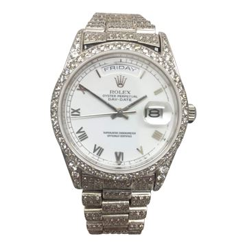 Rolex Oyster Perpetual 18034/9, day-date, diamond unisex watch