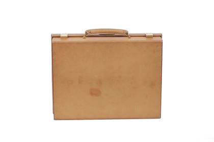 Hermes Leather Travel Tan Vintage Grooming Set